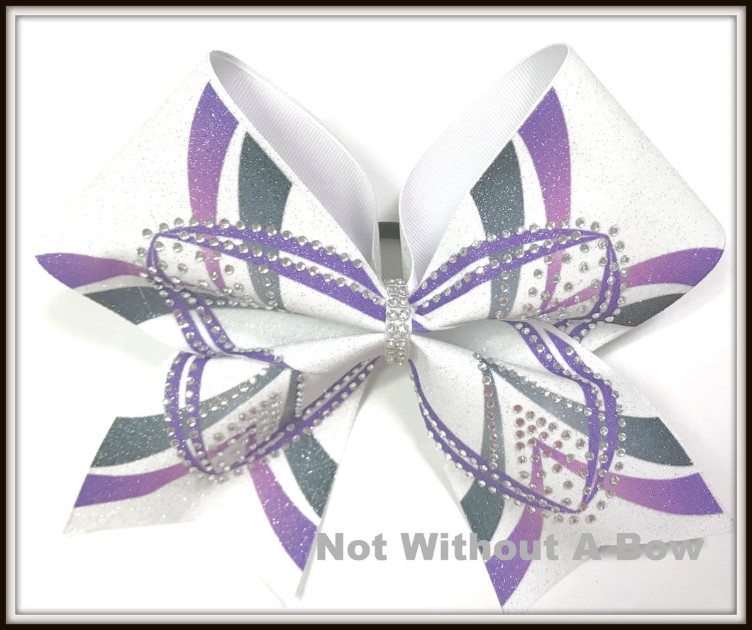 Ombre Tokyo Rhinestone Glitter Sublimation Cheer Bow | Customize Colors