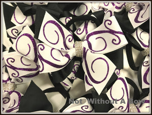 Mini Swirl Pinwheel Bow - Wear Individually Or As Pony Tails - Sold Individually