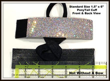 Load image into Gallery viewer, Rhinestone PonyTail Cuff - Solid Color