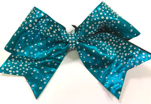 Waterfall Rhinestone Cheer Bow - Clear or AB Crystal