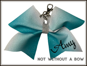 Key Chain Bow | Ombre Sublimation Glitter - Personalized Mini Cheer Bow | Customize Colors