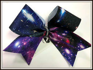Galaxy Glitter Cheer Bow