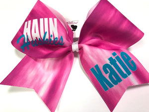 Tie Dye Personalized Sublimation Cheer Bow -  Customize Colors | NWAB Exclusive