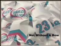Freeze Bullying Awarenss Bow Softball Bow Cheer Bow |  Customize Colors Personalize | NWAB Exclusive