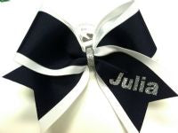 Double Layer Grosgrain Personalized Cheer Bow | Customize Colors