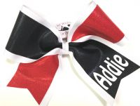 Double Layer Mystique Personalized Cheer Bow | Customize Colors