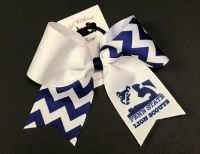 Your Logo Mid Size Chevron Cheer Bow |  Sublimation  | Volume Pricing Available