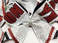 Rhinestone Competition Cheer Bow  |  NWAB Exclusive