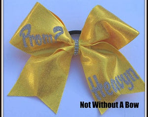 Promposal Cheer Bow - Prom Invite Cheer Bow   |  NWAB Exclusive