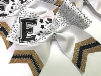 Load image into Gallery viewer, Rhinestone Competition Chevron Tail Cheer Bow  |  NWAB Exclusive