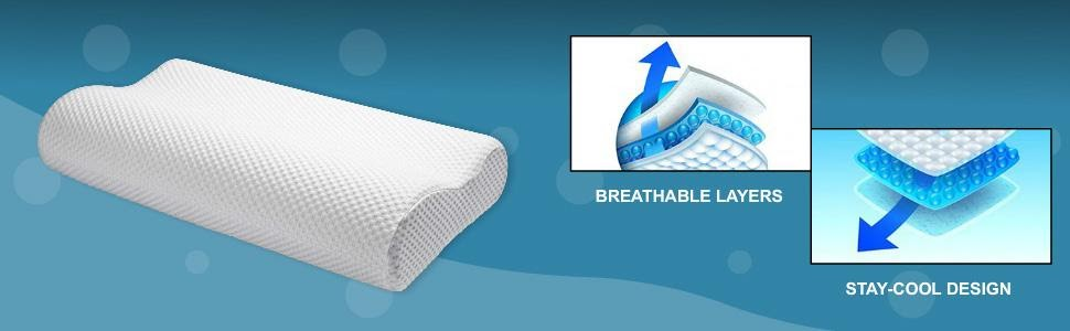 Contour Memory Foam Pillow Provides Cool Surface to Sleep Upon