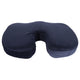 Sleepsia U Shaped Coccyx Orthopedic Foam Seat Cushion for Relief from Sciatica and Hip Pain, Multi-use for Car, Wheelchair - Velvet Blue