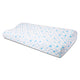 "Sleepsia Premium Gel Infused Medium Contour Memory Foam Pillow for Sleeping Cervical,Neck Pain and Orthopedic Problems -23""x 12""x 4"",Blue Star Fabric"