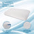 "XL Size Premium Gel Infused Memory Foam Pillow for Cervical Pain - 25.5""x16.5""x5"", Off White Grid Fabric"