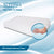 "Premium Gel Infused Medium Contour Pillow for Cervical & Neck Pain- 23""x12""x4"",Embossed White Fabric"