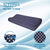 "Premium Gel Infused Medium Contour Pillow for Cervical & Neck Pain- 23""x12""x4"",Polka Dot Blue White Fabric"