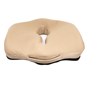 Sleepsia Coccyx Orthopedic Foam Ventilated Seat Cushion for Relief from Sciatica and Hip Pain, Multi-use for Car, Wheelchair - Beige