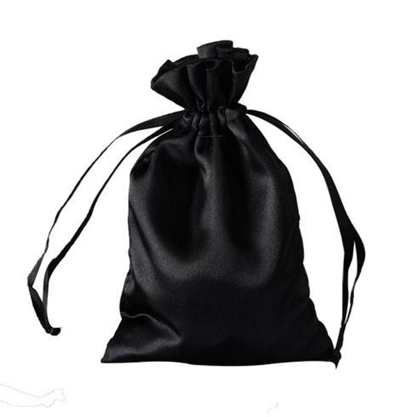 Satin Drawstring Black Bags | 3x4 | 4x6 | 5x7 | 6x9