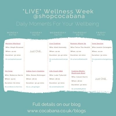 Wellness Week Timetable