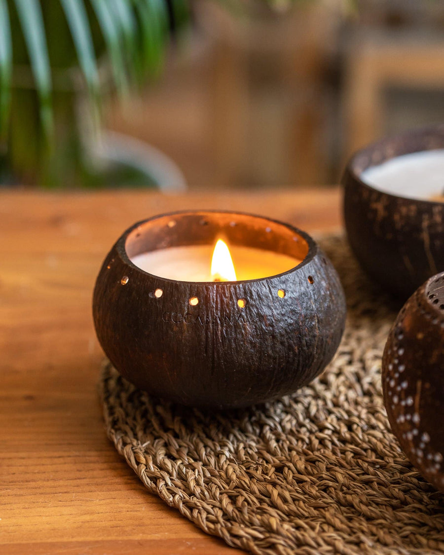 A Triad of Coconut Candles