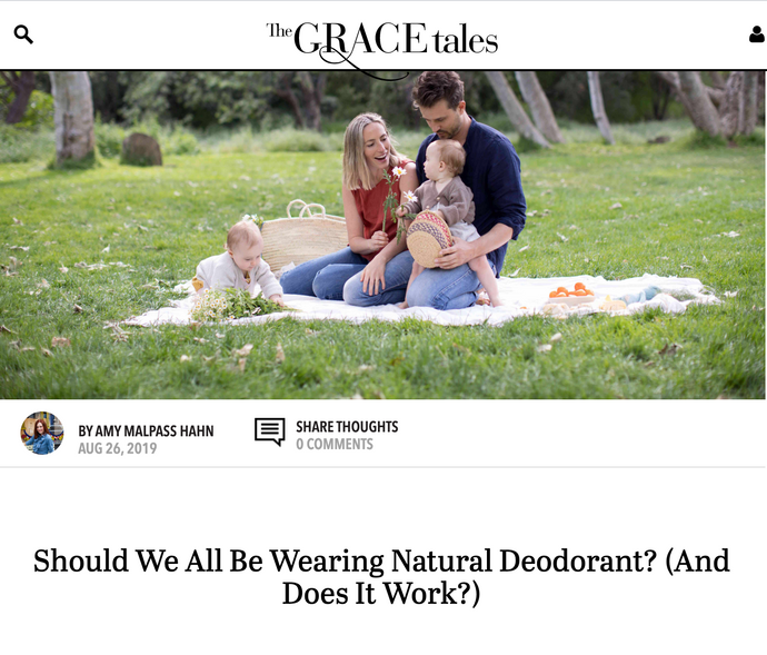 The Grace Tales: Should We All Be Wearing Natural Deodorant?