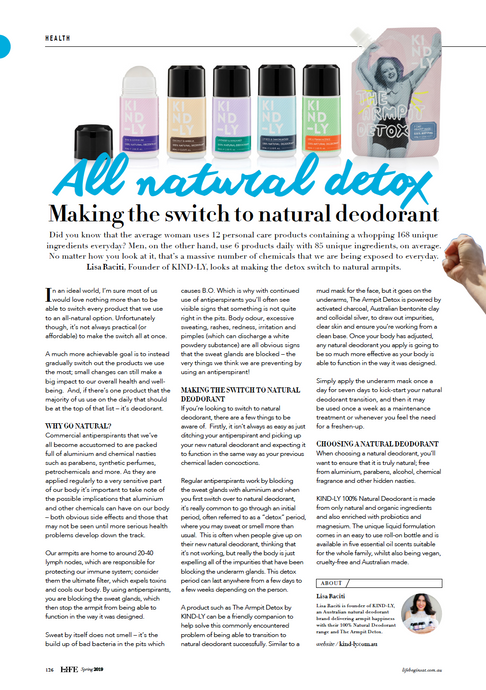 Life Begins At: Making The Switch To Natural Deodorant
