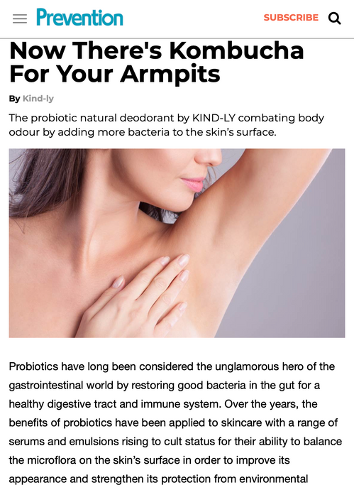 Prevention Magazine: Now There's Kombucha For Your Armpits