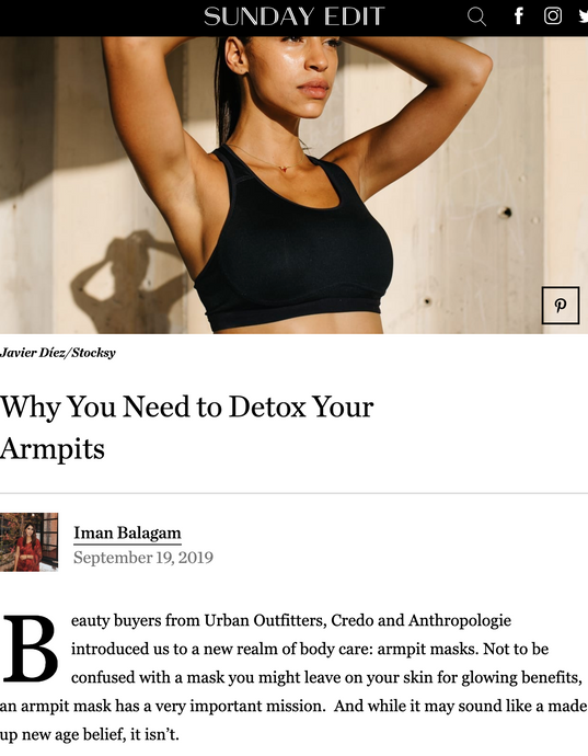 Sunday Riley: Why You Need To Detox Your Armpits