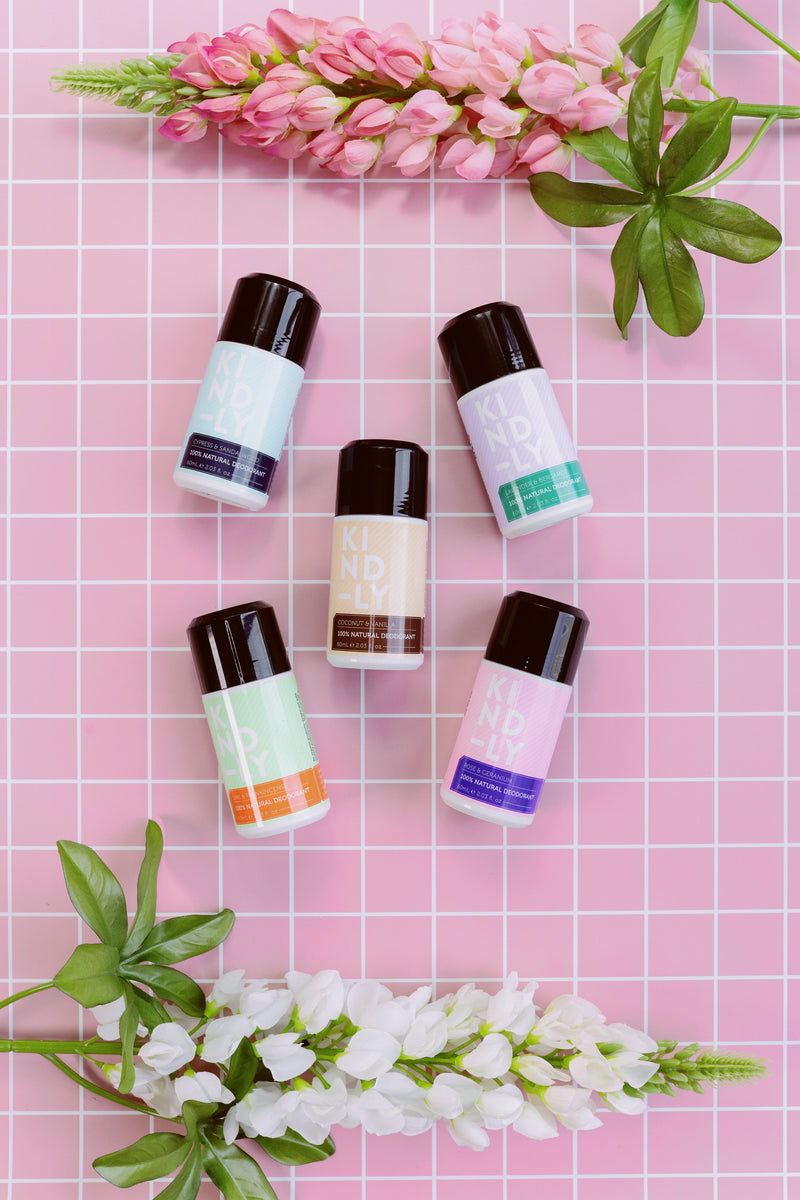 KIND-LY 100% Natural Deodorant range