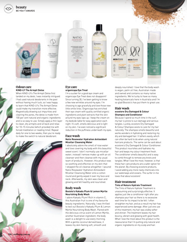 Wellbeing Magazine KIND-LY Winner Best Odour Care