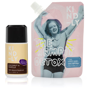 KIND-LY 100% Natural Deodorant Coconut & Vanilla & The Armpit Detox