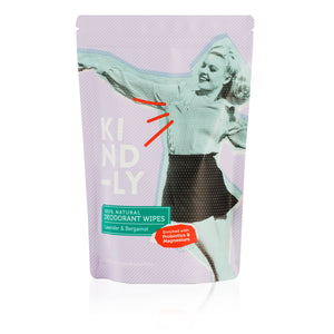 Lavender & Bergamot - 100% Natural Deodorant Wipes