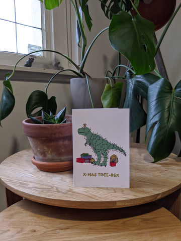 Xmas Tree-Rex Card