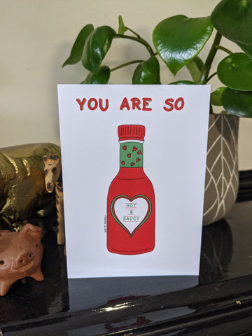 Hot & Saucy Valentines Day Card