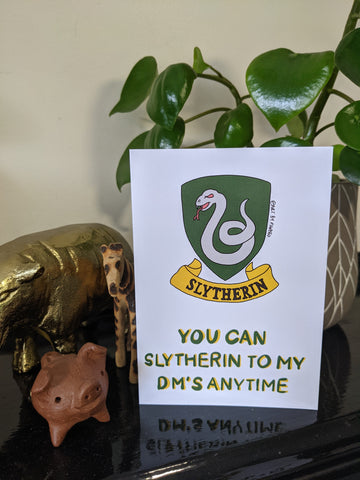 Slytherin Valentines Day Card