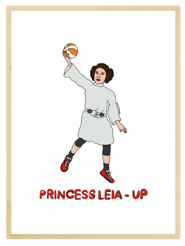 Princess Leia Up Print