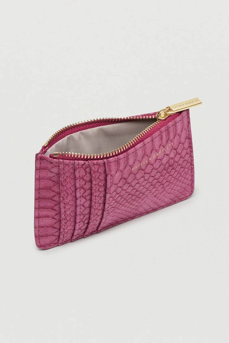 Burgundy Snake Card Purse