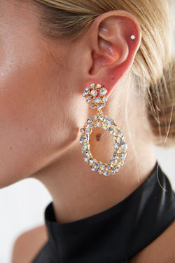 Angelica Crystal Hoop Earrings