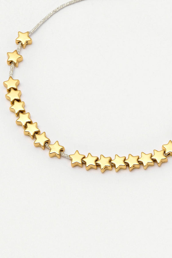 Gold Stars So Bright Slider Bracelet
