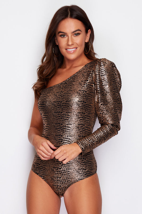Bronze Crocodile Bodysuit