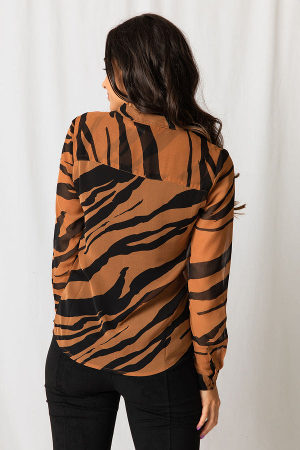 ICHI Tiger Blouse