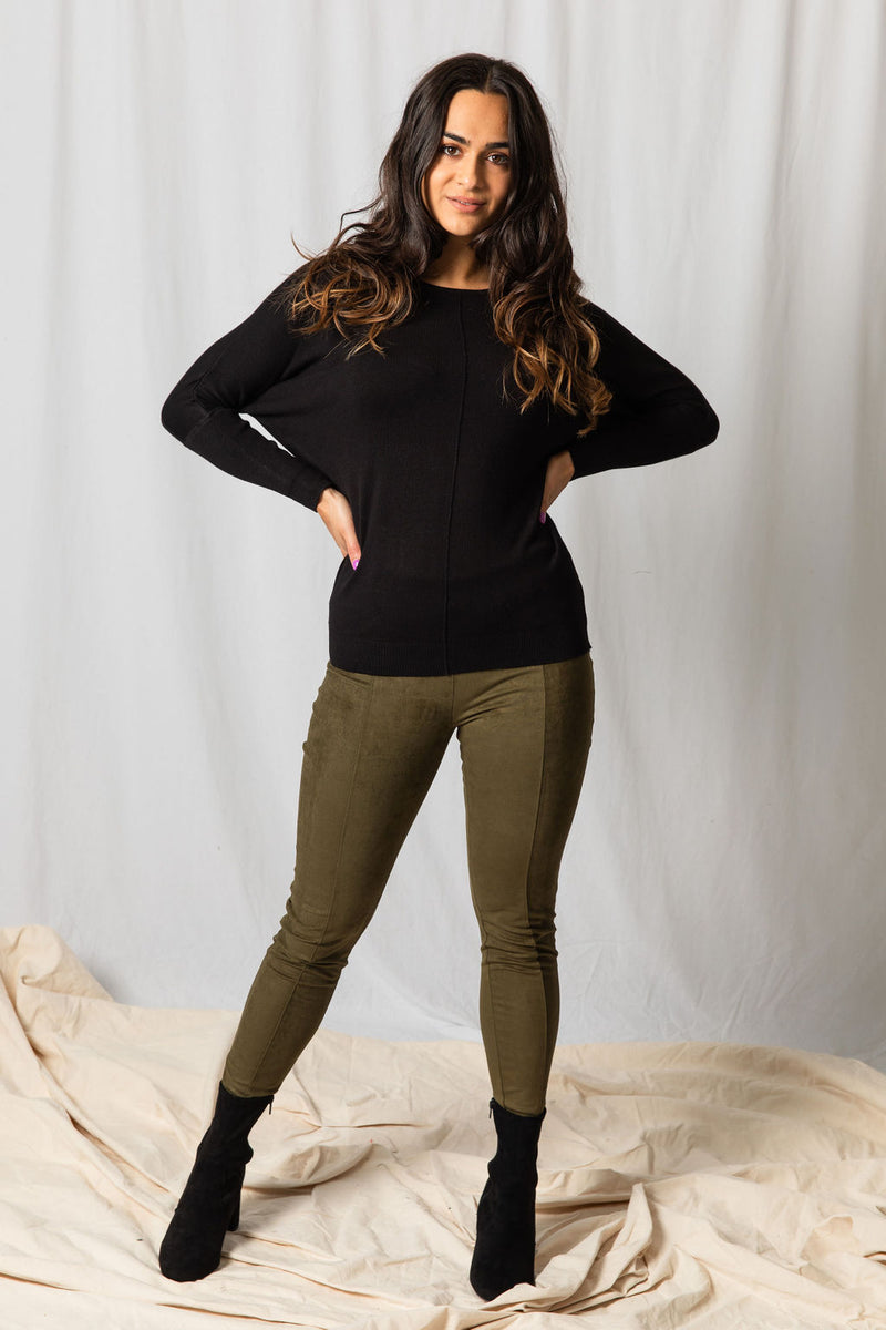 B.Young Olive Green Leggings