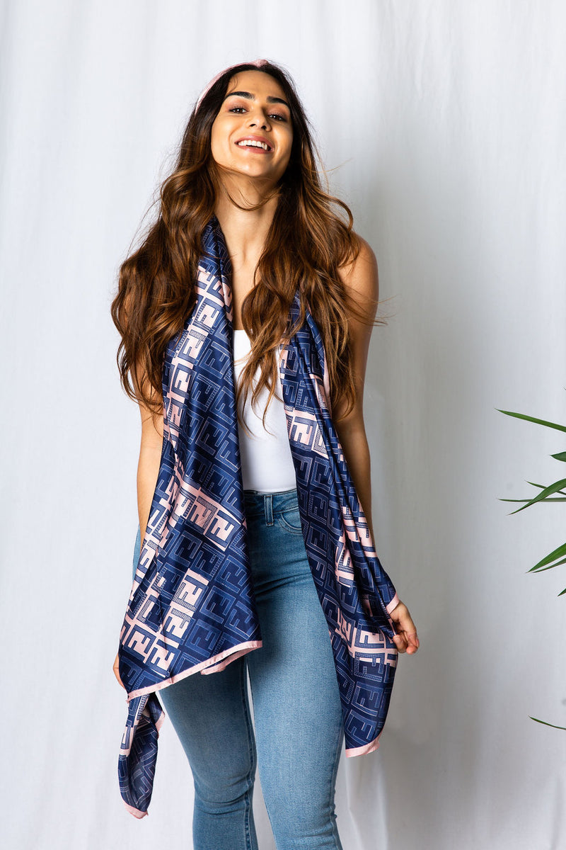 Fifi Blue/Pink Scarf