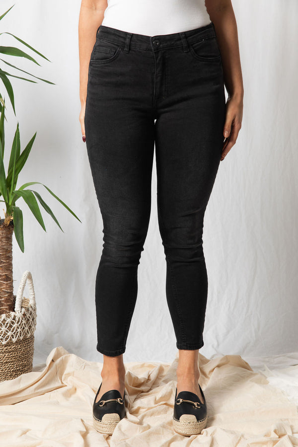 ICHI Lulu Black Washed Jeans