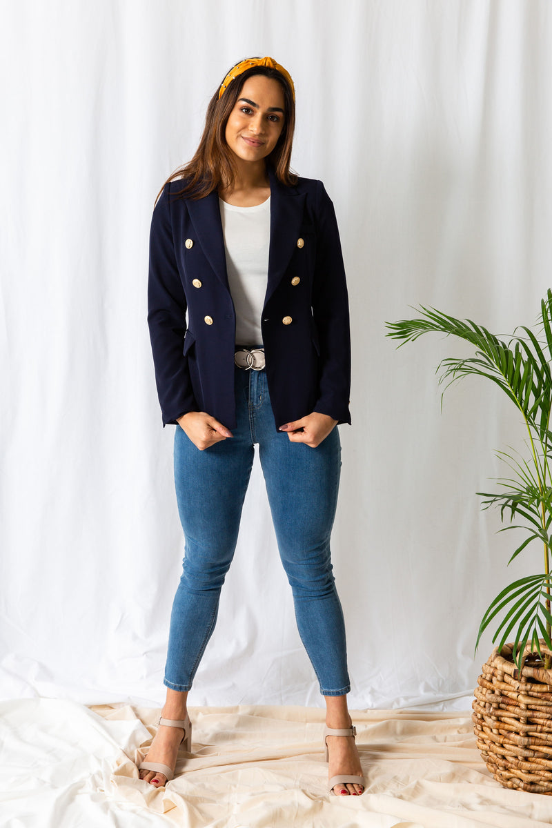 Navy Double Breast Blazer