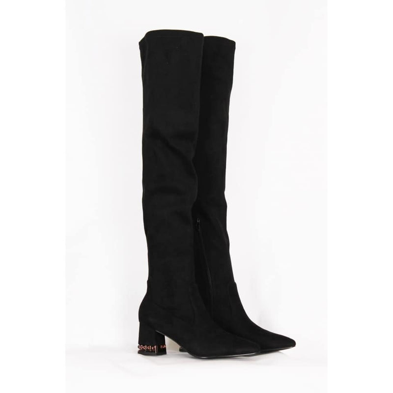 Knee High Detailed Heel Boots