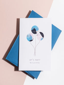 Let's Party Balloon Card