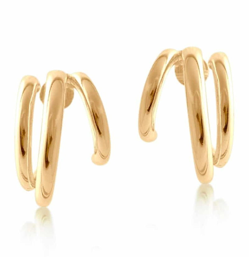 Gold Tubular Plated Hoop Earrings