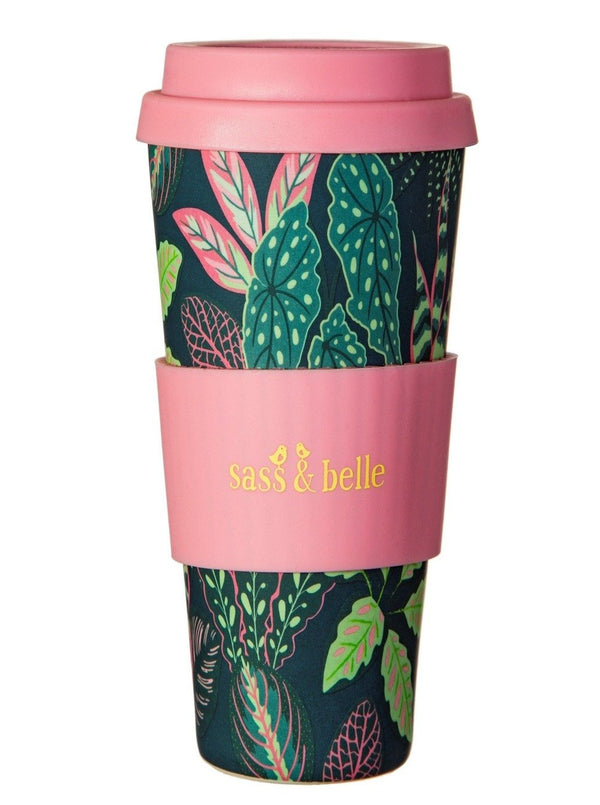 Tropical Leaves Bamboo Coffee Cup