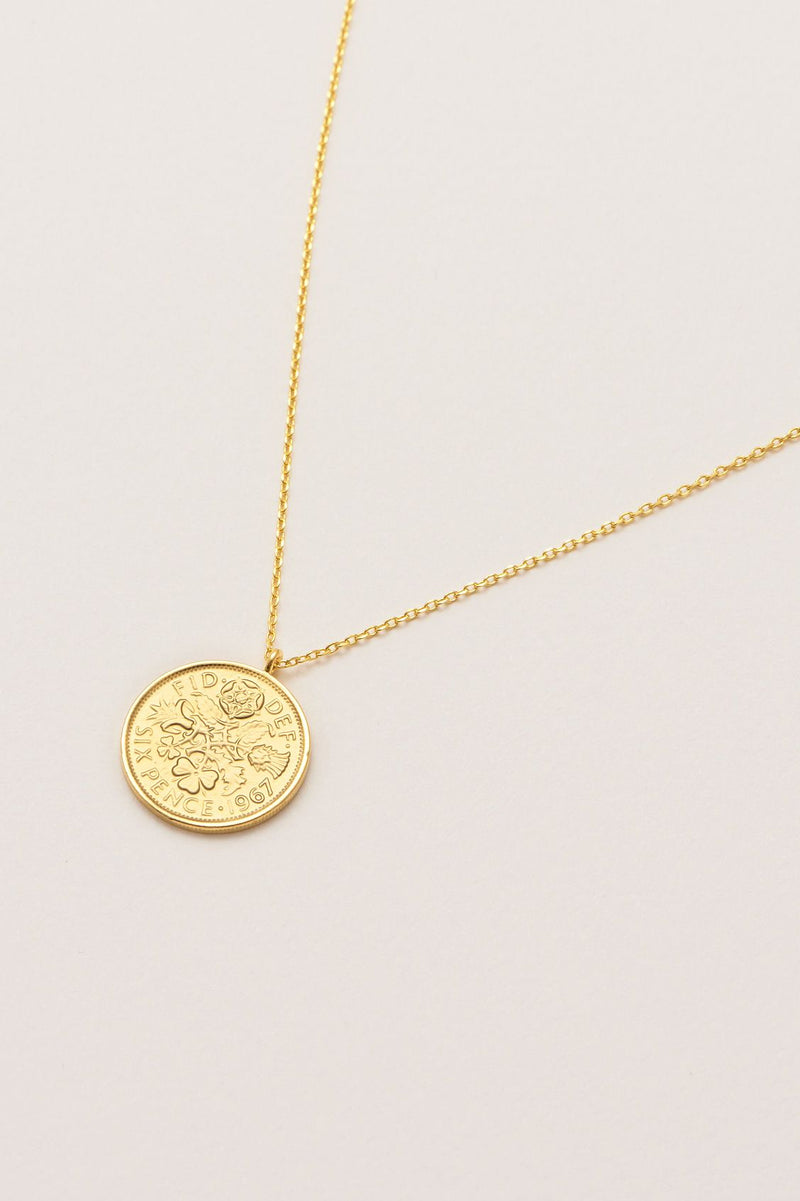 Lucky Six Pence Necklace
